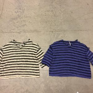 Lot of 2 Free People Cropped Sweater Tops